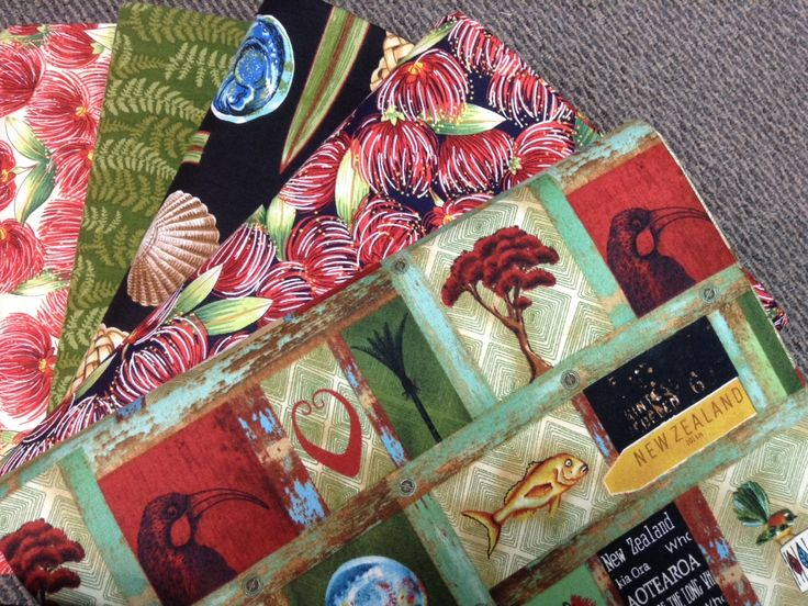 NZ themed 100% cotton quilting fabric.