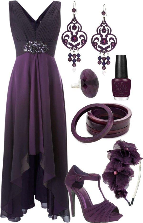 """Untitled #215"" by theheartsclubqueen on Polyvore. I love the color and accessories. But I wouldn't wear so much of the same color."