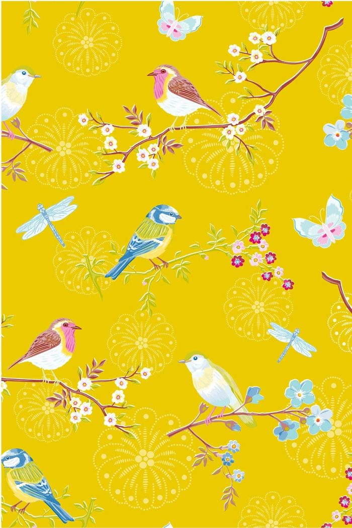 PiP Early Bird Yellow Wallpaper