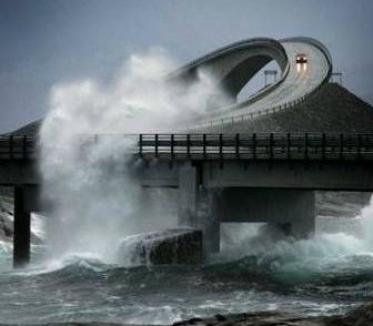 Atlantic Road (Norway) - This 8.3 kilometres long road connects several islands. It took 6 years to build and during that period there were 12 tornadoes. It is worth seeing not only for the view but also for the spectacular bridges with crystal waters running underneath. - Want to discover more hidden gems in Europe? All of them can be found on www.broscene.com