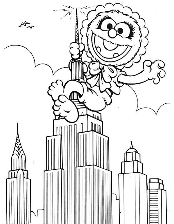 Muppet Babies Climb Empire State Like Kingkong Coloring Pages Bulk Color In 2020 Baby Coloring Pages Coloring Pages Coloring Books