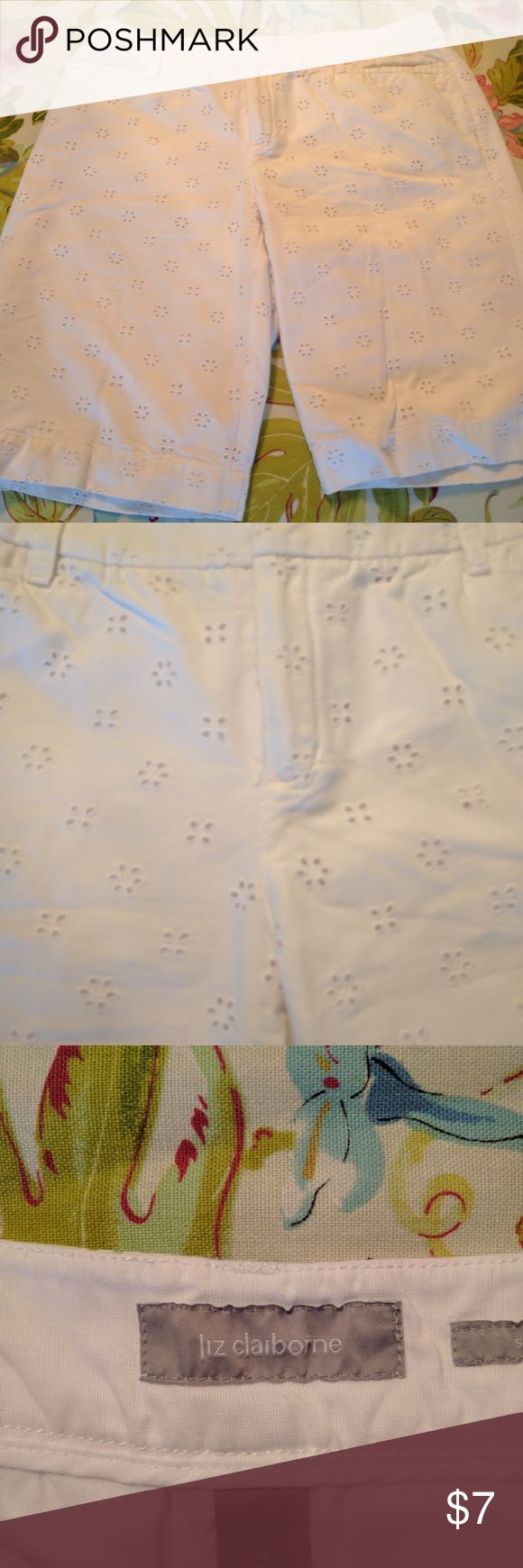 Liz Claiborne shorts White eyelet shorts Liz Claiborne Shorts Bermudas
