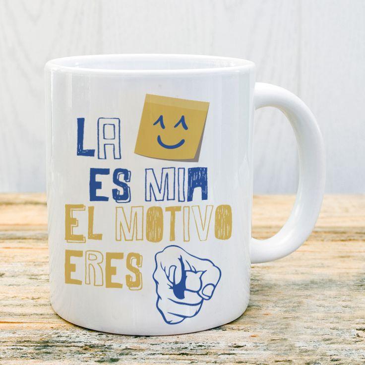 Taza la sonrisa es mía el motivo eres tú #taza #mug #sonrisa #tu #amor