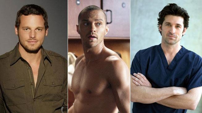 ANATOMÍA DE GREY   Personajes - Patrick Dempsey, Justin Chambers... ¿quién es tu médico favorito de Anatomía de Grey? - B