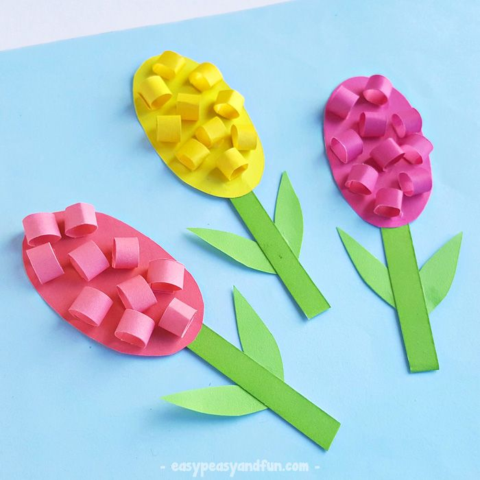Paper Hyacinths Flower Craft For Kids