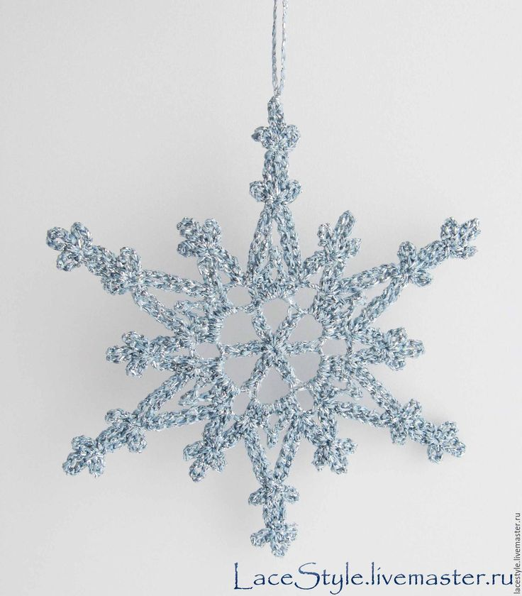 Купить Снежинки. Новогодний декор. - снежинка, снежинки, снежинки крючком, снежинка на елку, снежинка крючком