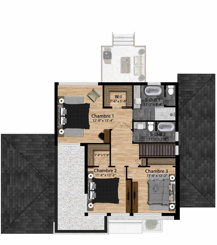 Avec son architecture actuelle et moderne, Le Jefferson est un cottage fonctionnel imaginé par Les Constructions Raymond et Fils.