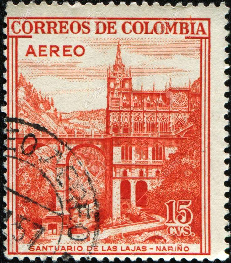1954-Colombia-Santuario-de-las-Lajas-Marino