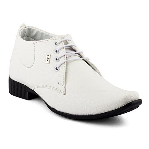 #Rosso #Italiano Men's #Synthetic #Leather White #Formal #Laced #Shoes