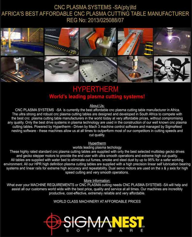 Africa's best affordable and most advanced CNC plasma cutting machines - Powered by HYPERTHERM