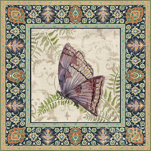 I uploaded new artwork to fineartamerica.com! - 'Vintage Tapestry Butterfly-d' - http://fineartamerica.com/featured/vintage-tapestry-butterfly-d-jean-plout.html via @fineartamerica