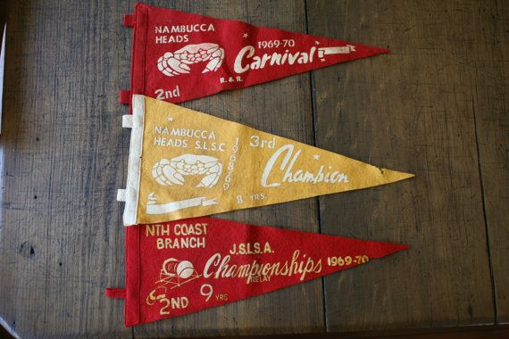 Surf Lifesaving Carnival Pennant Australian Beach by FoundByHer