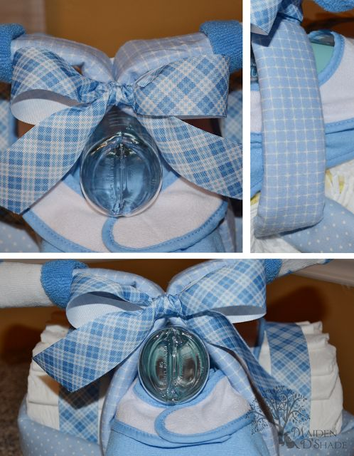How to Make a Mini Motorcycle with diapers for Baby Shower