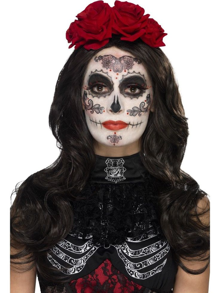 Glamour Day Of The Dead Make Up Kit Ladies Halloween Face