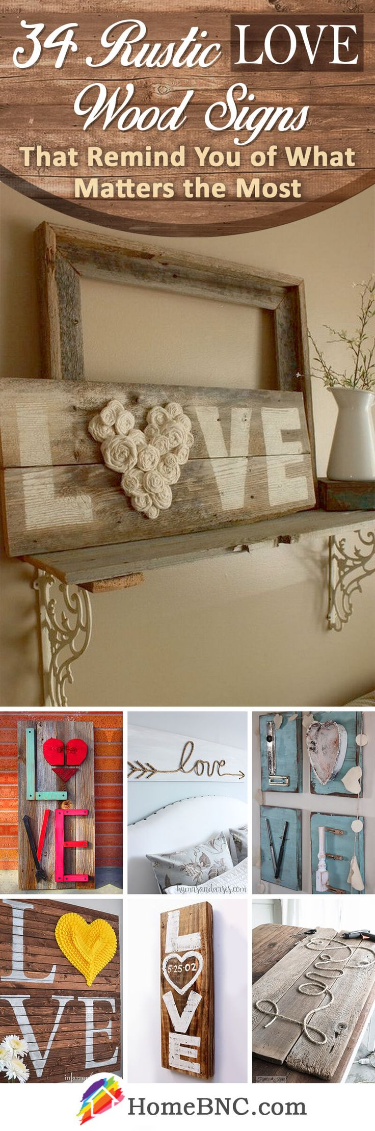 34 Best LOVE Wood Sign Ideas and