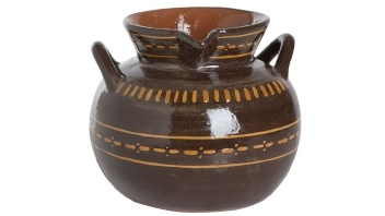 beans cooked w/onion & ham shanks taste great in ollas. Hernán Olla de Barro Ceramic Pot by