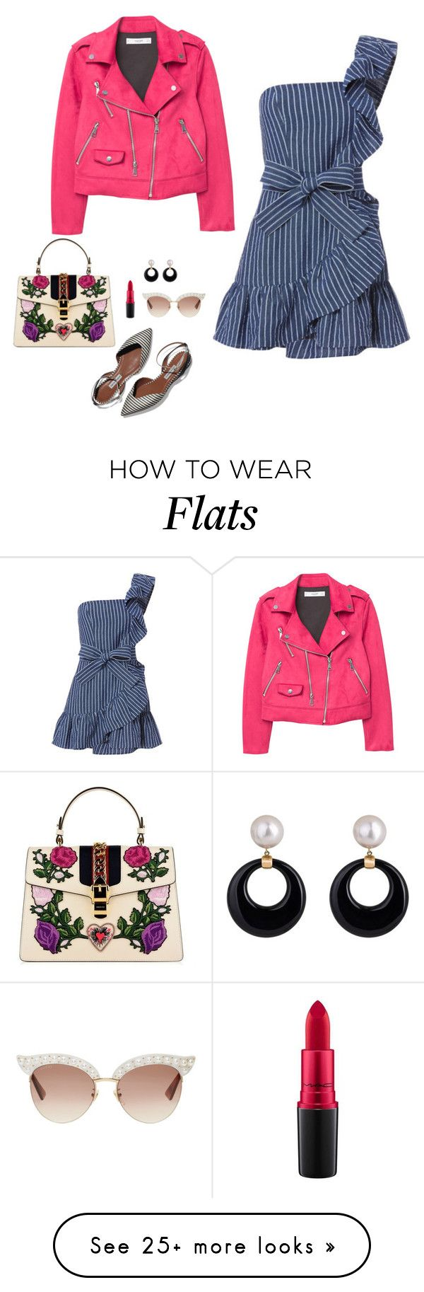"""""""Lundi 19"""" by speakwithstyle on Polyvore featuring MANGO, Alexis, Gucci, MAC Cosmetics and mode"""