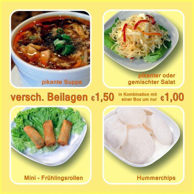 Unsere Vorspeisen: scharfe Suppe, scharfer Salat, gemischter Salat, Mini-Frühst… – Gemischter Salat