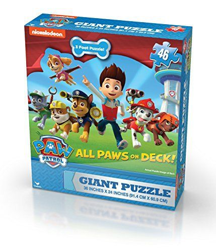 Paw Patrol Giant Puzzle (46-Piece) Beautiful graphics depict your favorite characters from TV show, paw patrol. Large 46 pc giant puzzle easy to assemble over and over. Box can be used for a handy storage container, until time to build again!.Paw patrol giant puzzleFeaturing your favorite paw patrol charactersBeautiful full color graphicsHandy storage so you can build again  easter, easter 2017, Jewelry