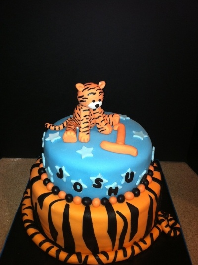 Tiger Birthday Cake For The Kiddies Pinterest