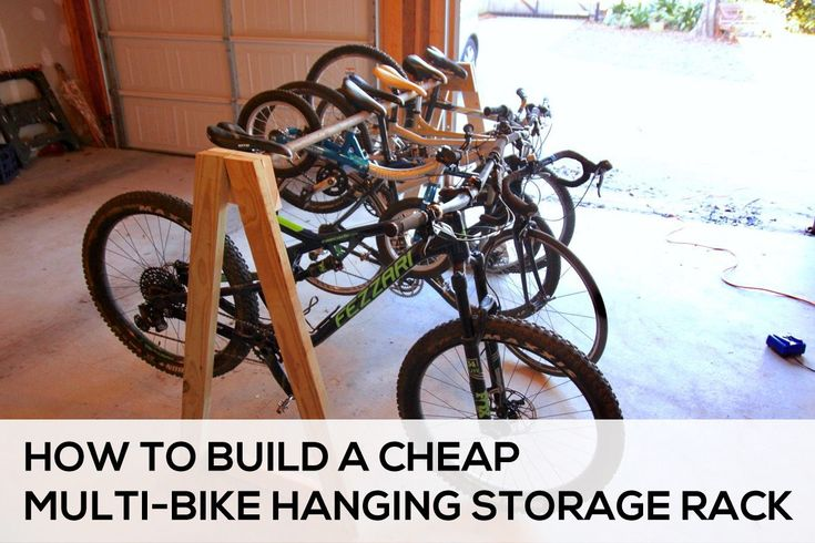 How to Easily Build a Cheap Multi-Bike Hanging Storage Rack - Singletracks Mountain Bike News