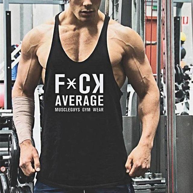 8d89ec7fe99e6 Fitness bodybuilder superman cotton sleeveless t shirt workout clothing Y  back 1cm stringer men tank tops