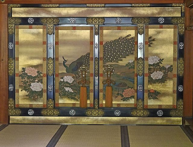 Ninna-ji Palace Peacock Screen #japan #kyoto
