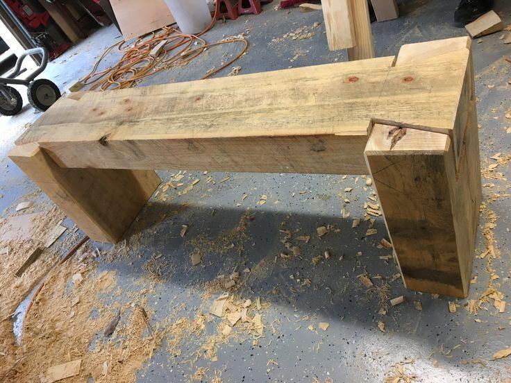 Rough sawn timber bench #penandpeg #WoodWorking