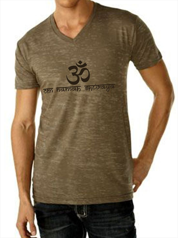 Anjali Clothing Mens The Invoke Burnout Tee Earth @ www.downdogboutique.com  $42 #YogaClothesMen #Yoga