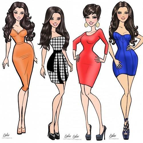 : Kardashian Khao, Dash Drawings, Kourtney Kardashian, Kim Kardashian, Kardashian Style, Kardashian Obsession, Kardashian Dolls, Kardashian Caricatures, Fashion Illustrations