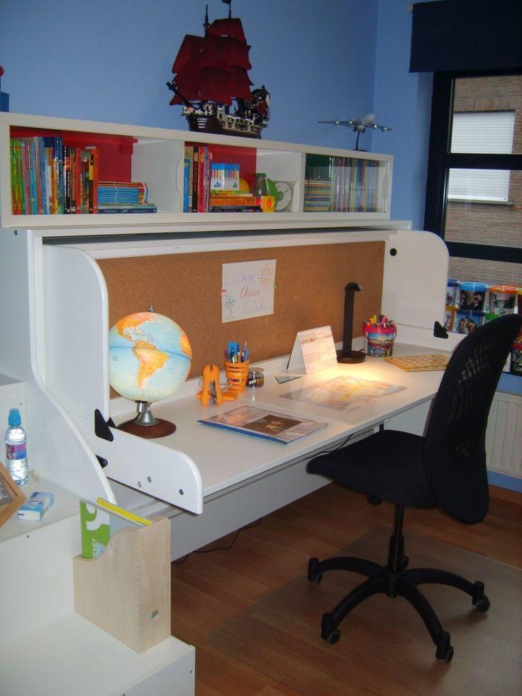 9 best space saving desk images on pinterest desks for Creative desk solutions