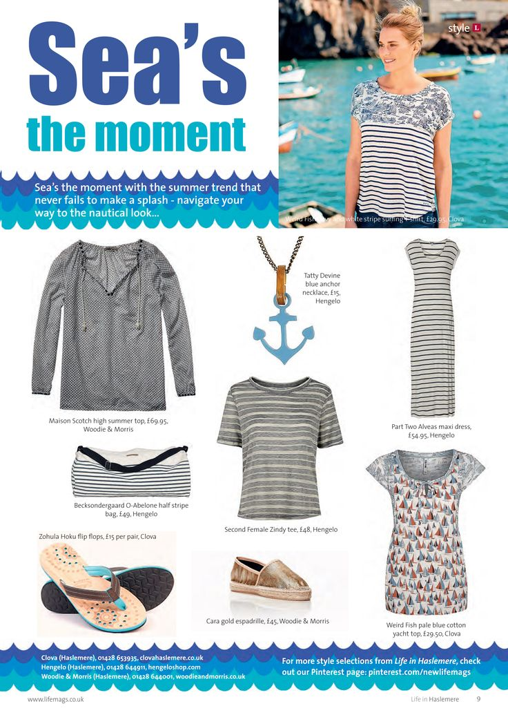 ~ Sea's the moment ~ Navigate your way to the nautical look... #locallife #Haslemere #Surrey #style #selections #fashion #summer #sailing #beach #beautiful
