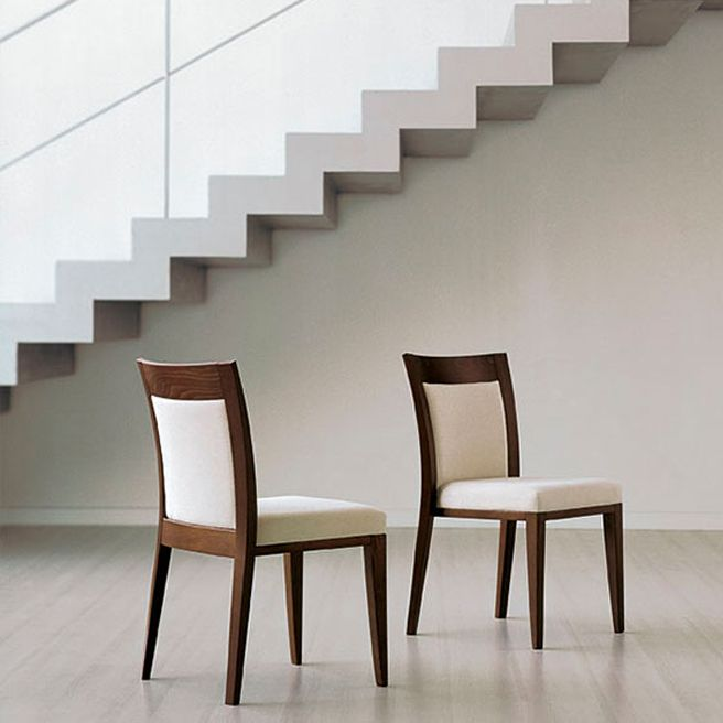 Azure 1.1 | Sandler Seating. Solid Beech chairs with an upholstered seat, suitable for stacking.