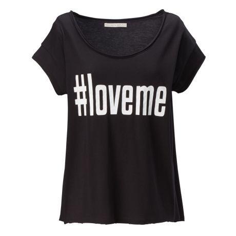 T-Shirt, Statement Print, leger geschnitten, Casual, Baumwolle Vorderansicht