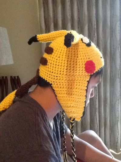 for a free pikachu crochet hat