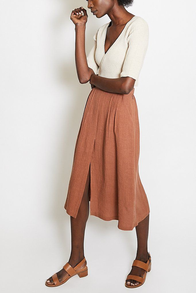 56cfee8316 First Rite Pleated Skirt / Clay | Cloth | Fashion, Pleated Skirt, Skirts