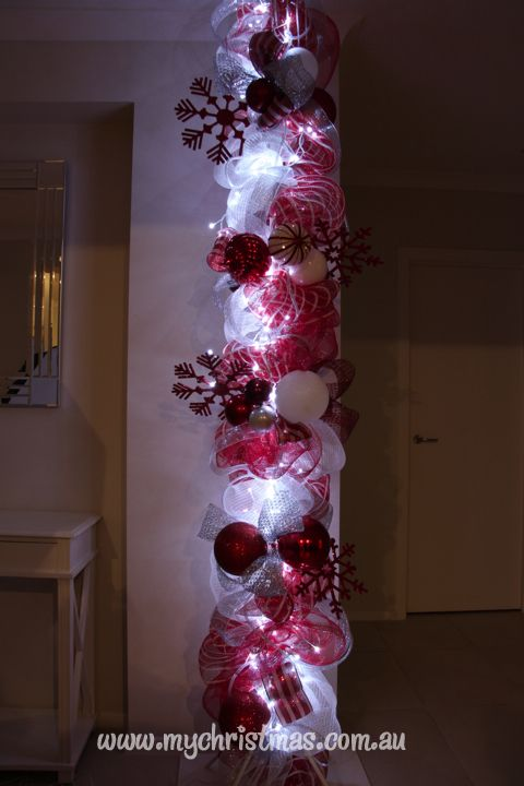 Christmas decorating your home - Christmas pole instructions.
