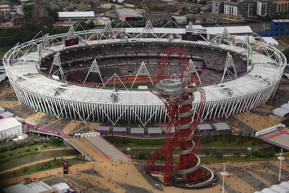 Aerial views of London 2012 Olympic Venues
