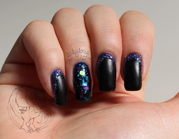 Fabulous Von Raptor - Ursula Inspired Claws | Nail Art | Mermaid | Glitter