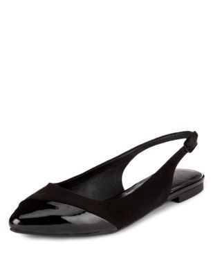 marks and spencer black pointed slingback sandals - Google Search