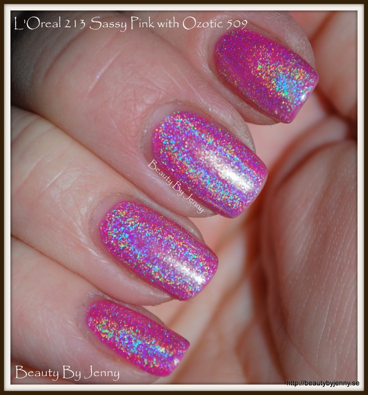 L'Oreal 213 Sassy Pink with Ozotic 509