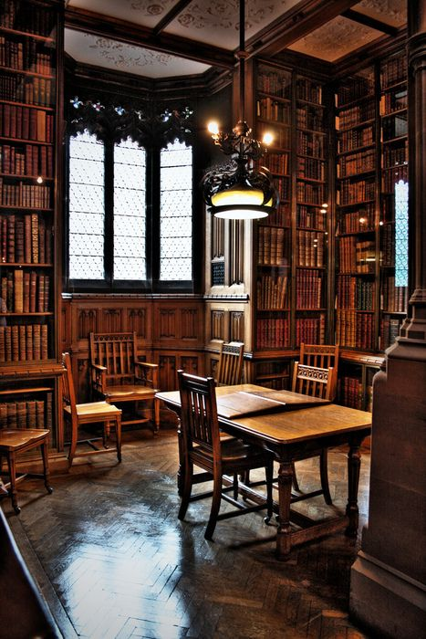 Reading Room, John Rylands Library, Manchester, England  photo via bookmania