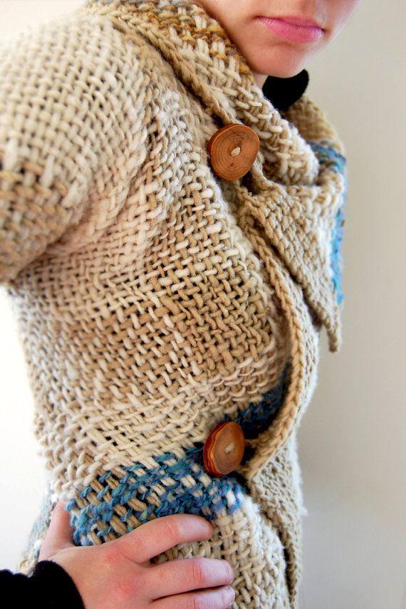 Abrigo original jaspeado de lana