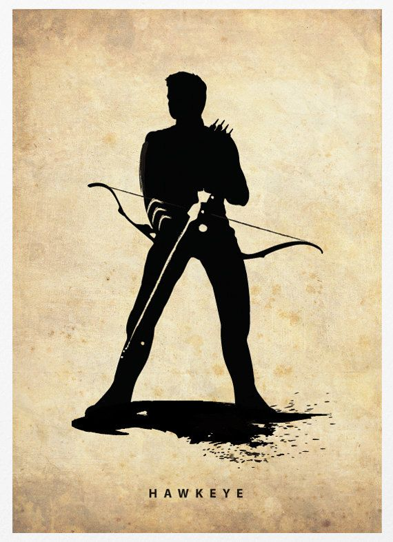 Hawkeye Poster A3 Print by Posterinspired on Etsy, $18.00