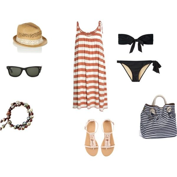 Tenue de plage, created by gwennaa on Polyvore