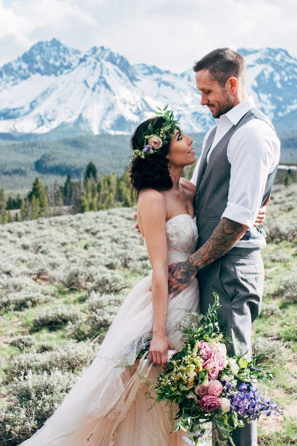Mountain wedding from Junebug wedding photo by Maggie Grace Photography