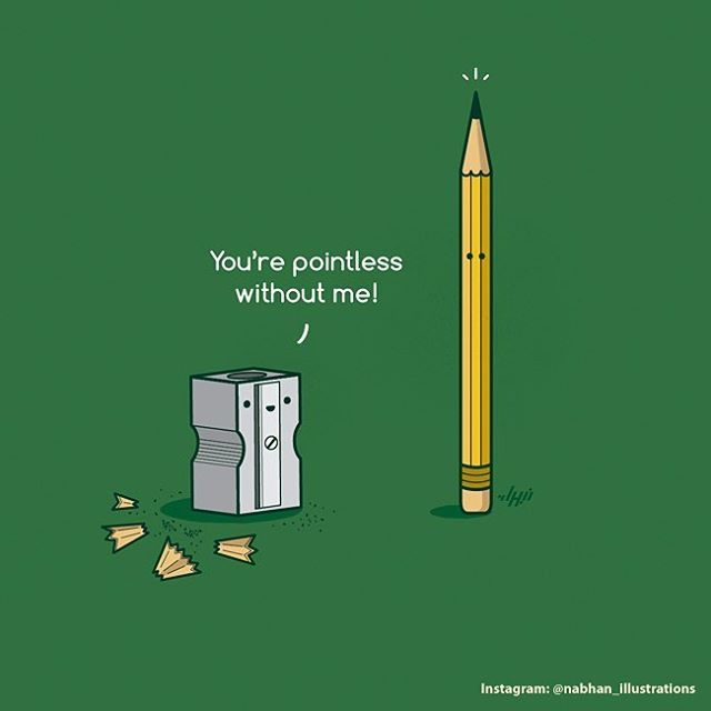 'A pointless existence'  Note: Re-posts allowed on the conditions of giving full credit, re-linking back to this account and no alteration of the artwork in any form.  #illustration #illustrator #art #artist #pun #visualpun #punny #humor #lol #funny #cute #design #graphics #graphicdesign #vector #digitalart #vectorart #draw #drawing #nabhan #myart  #pointless #sharpener #pencil #bestvector #simplycooldesign