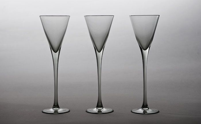 Zbigniew Horbowy, liqueur glasses, produced by the Inco United Household Goods Factory in Wrocław, 1980s, collections of the Museum of the Academy of Fine Arts in Wrocław