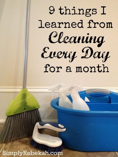 9 things i learned from cleaning every day for a month What month is spring cleaning