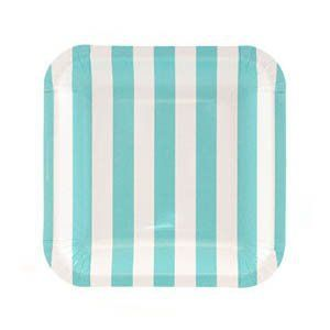 Let's Party With Balloons - Sambellina Blue Stripe Square Snack Plate, $8.00 (http://www.letspartywithballoons.com.au/sambellina-square-paper-snack-plate-blue-stripe/?page_context=category
